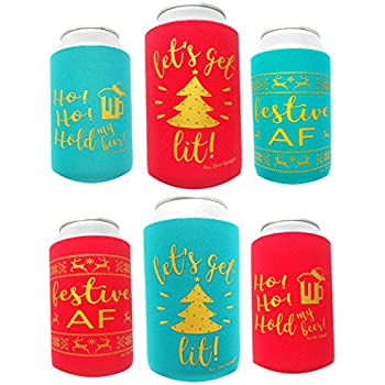 Christmas Koozies.Amazon Com Victorystore Can And Beverage Coolers