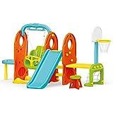 URBN Toys Outdoor 7 in 1 Kids Football Net, Swing & Slide Playground Set