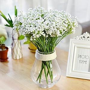 UHBGT 7 Fork Artificial Flowers Baby's Breath Flower Bouquet Decorative for Wedding Home Decorations 1pcs 115
