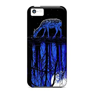 Top Quality Rugged Deer Night Drinking Case Cover For Iphone 5c