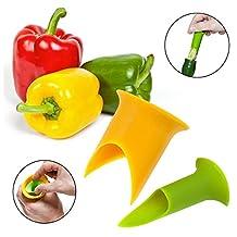MAXGOODS Pepper Corers Twist to Core & Seed Bell & Chili,Random color (1Set/2pcs)