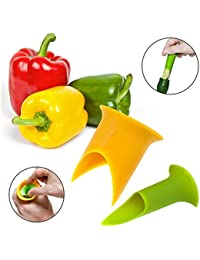 Buy MAXGOODS Pepper Corers Twist to Core & Seed Bell & Chili,Random color (1Set/2pcs) save