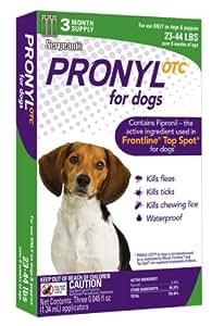 Pronyl OTC 23 to 44-Pound Dog Flea and Tick Sqz-On Flea and Tick Remedy, 3-Count