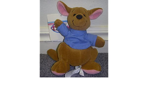 Amazon.com: Retired Disney Winnie the Pooh 6 Inch Kanga Kid Plush Bean Bag Roo Doll: Toys & Games