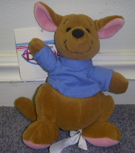 Retired Disney Winnie the Pooh 6 Inch Kanga Kid Plush Bean Bag Roo Doll