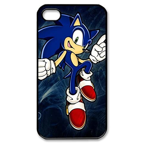 CTSLR Game Sonic the Hedgehog Hard Case Cover Skin for Apple iPhone 4/4s- 1 Pack - Black/White - 5- Perfect Gift for (Sonic Iphone 4s Case)
