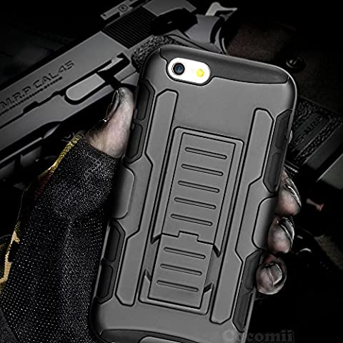 iPhone 6S / 6 Case, Cocomii Robot Armor NEW [Heavy Duty] Premium Belt Clip Holster Kickstand Shockproof Hard Bumper Shell [Military Defender] Full Body Dual Layer Rugged Cover Apple (Iphone 6 Case Armor Rugged Black)