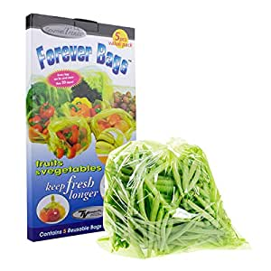 Forever Bags Fruits And Vegetables 5 Count By Gourmet
