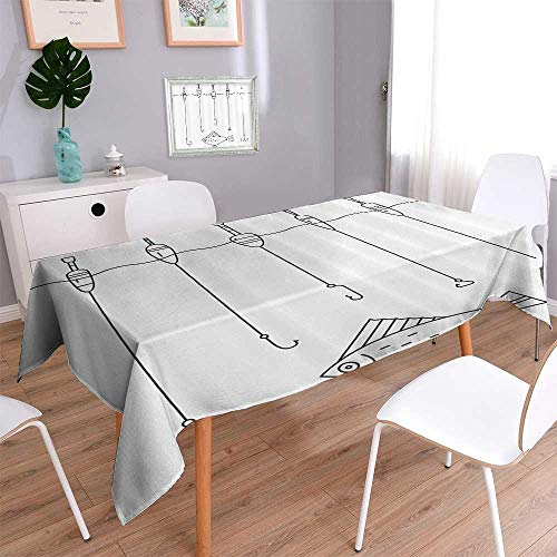 Liprinthome Spillproof Fabric TableclothAncient Strein Valldemossa Village Mallorca Spain Vintage Door Road Tourism wear-resistant, washable, anti-liquid spill/50W x 72L Inch by Liprinthome