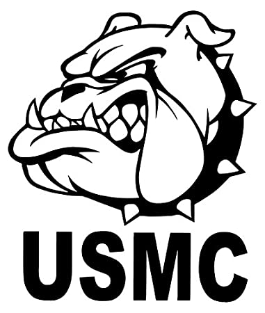 amazon com united states marine corps usmc bulldog decal sticker rh amazon com us marine corps clipart free marine corps clipart logos