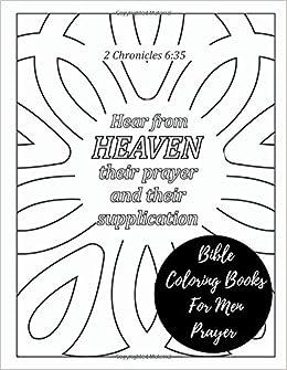 Bible Coloring Books For Men Prayer: Christian Scripture