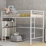Harper & Bright Designs Metal Loft Bed Twin Size