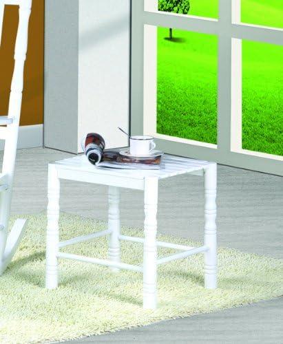 Style nostalgique CLP Table Basse d/écor/ée en Bois Massif Table de t/él/éphone Blanc utilisable comme Tabouret 45 x 40 cm Hauteur: 45 cm Table /à Plantes