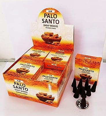 GR Palo Santo Incense Cones Case of 12 Boxes, 10 Cones Each Box=120 cones