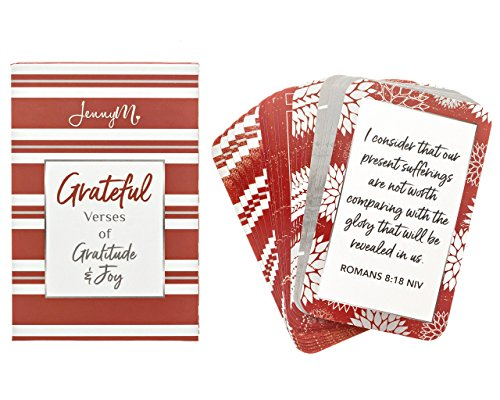 Prayer Card Postcards - JennyM | Grateful Verses of Gratitude & Joy Bible Verses Inspirational Prayer Cards, Scripture Cards with Keepsake Box, Boxed Inspirational Blessing Cards, Christian Gift