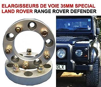 Lote de 2 elargisseurs de vía 30 mm 5 agujeros 5 x 165,1 Special Land Rover ...