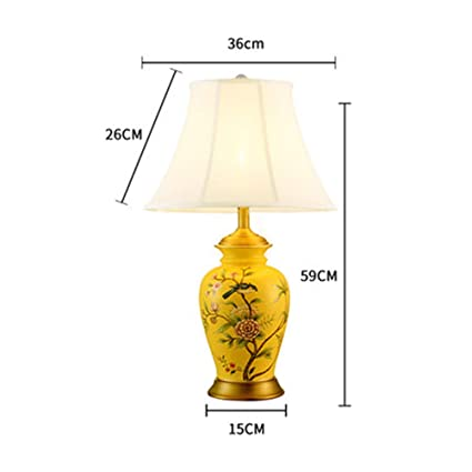 Amazon.com: PPWAN Table Lamp European Bedroom Bedside Lamp ...