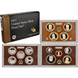 """The 2011-S United States Mint Proof Set contains all 14 circulating coins in stunning proof condition displayed in three protective lenses. Each of these 2011-dated coins bears the """"S"""" mint mark of the United States Mint at San Francisco.  The coins ..."""