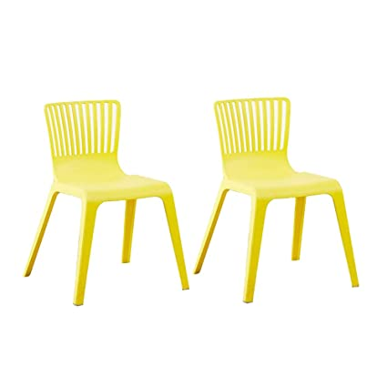 Modern Plastic Outdoor Chairs.Amazon Com Stackable Modern Plastic Chairs Kitchen Dining