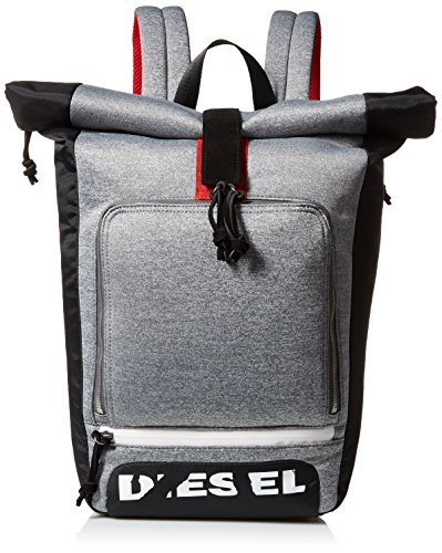 Diesel Men's Scuba Rolltop Backpack, Steel Gray by Diesel