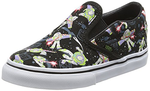 Vans Toddlers Classic Slip-On (Toy Story) Buzz Lightyear/True White Skate Shoe 9 Infants US (Baby Buzz Lightyear)