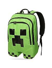Minecraft Creeper Backpack Children Backpack For Boy Kids Green School Bag