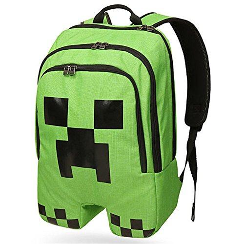 b092c2bbd79e Minecraft Creeper Backpack Children Backpack For Boy Kids Green School Bag
