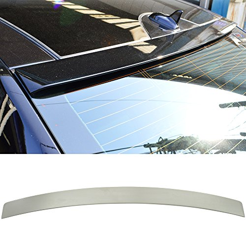 Oe Style High Wing (Roof Spoiler Fits 2010-2016 Benz E-Class W212 4Dr | Unpainted ABS OE Style Rear Wing - Other Color Available Rear Trunk Tail Spoiler Wing by IKON MOTORSPORTS | 2011 2012 2013 2014 2015)