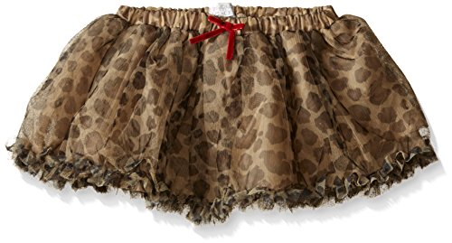 The children's place baby-girls leopard mesh skirt, leopard faux fur, 12-18 months
