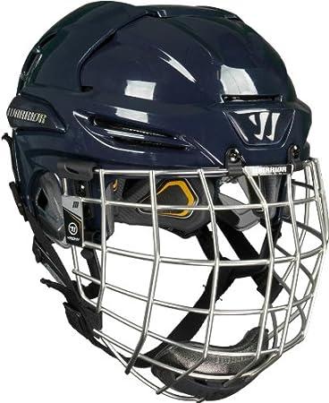 Warrior KROWN Hockey Helmet Combo, Navy, X-Large