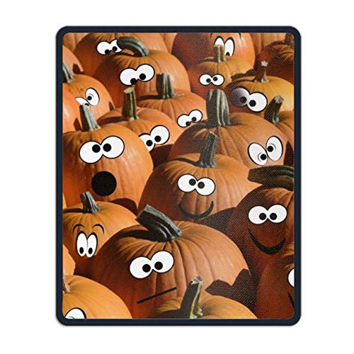 Gaming Mouse Pad Custom, Halloween Pumpkin Mousepad Stitched Edge Non-Slip Rubber