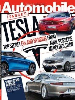 Automobile Magazine February 2015 - Tesla - Top Secret EVs and Hybrids from Audi, Porsche, BMW & Mercedes