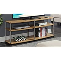 Convenience Concepts 131060LO Designs2Go 3-Tier TV Stand, 60, Light Oak