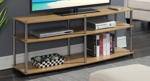 Convenience Concepts Designs2Go 3-Tier TV Stand, 60 , Light Oak