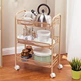 Hyun times Kitchen Stands Trolley With Metal Floor Clamps For Removable Vegetables