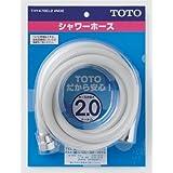 TOTO シャワーホース L=2000mm 本体側ねじW24山20 ホワイトグレー THY478EL2#NG2