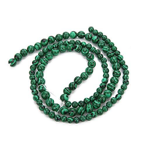 BALIBALI Natural Malachite Gemstone Loose Beads Round 8mm Crystal Energy Stone Healing Power for Jewelry Making DIY Bracelet Necklace