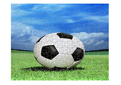 Style in Print Soccer Ball On Green Grass Jigsaw Puzzle Print 252 (Ball Jigsaw Puzzle)
