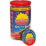 Sunbutter On The Go Creamy Sunflower Butter 1.5 oz Cups 6 Ct (Pack of 3)