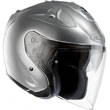 Cascos HJC Jet para motocicleta, color gris, talla XS