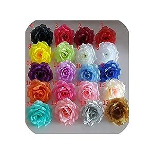 10PCS/Lot 10CM Golden Artificial Roses Silk Flower Heads DIY Wedding Home Decoration Festive Accessories Party Supplies 20colors,Green,Diameter 10cm 2