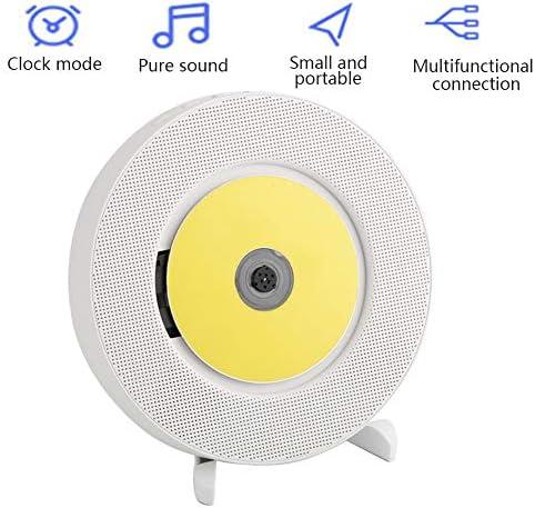 Bluetooth対応のポータブルCDプレーヤー、リモコン付きの壁に取り付け可能なCD音楽プレーヤー、HiFiスピーカーを内蔵