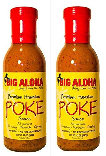 2 Pack Big Aloha Premium All Purpose Hawaiian Poke Sauce