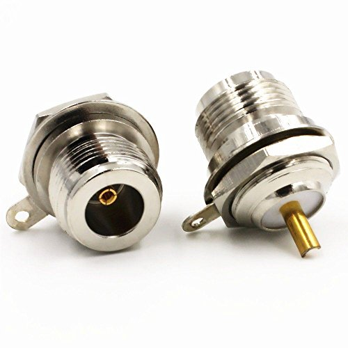 Generic 2 pcs N female Jack bulkhead Panel Mount with solder cup RF Straight Connector