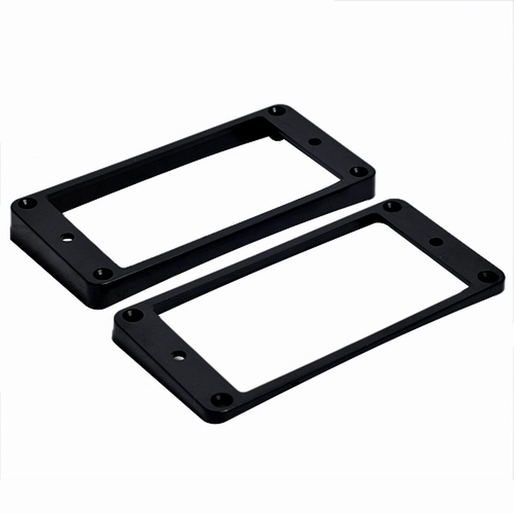 Kmise A0569 2-Piece Curved Pickups Frame Mounting Ring Black for Electric Guitar