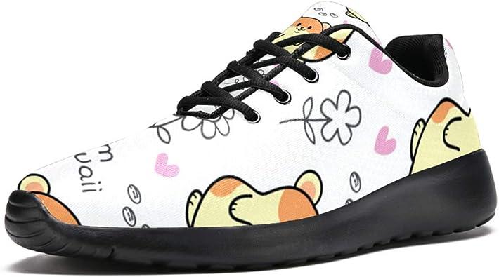 TIZORAX Zapatillas de Running para Hombres Lindos Hámster Im Kawaii Moda Zapatillas de Malla Transpirable Senderismo Tenis Zapato de Tenis, Talla 4,5: Amazon.es: Zapatos y complementos