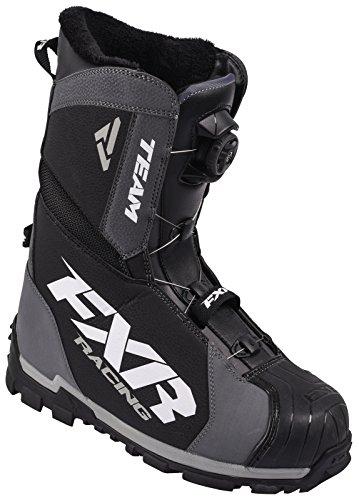 Fxr Leggero Resistente Allusura 800 G Snowmobile Team Boa Boot - Nero / Char - Uomo 6 / Donna 8