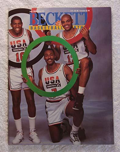 - Charles Barkley, Karl Malone, Magic Johnson, Patrick Ewing & Michael Jordan - The Olympic Dream Team - Wraparound Cover - Beckett Basketball Monthly Magazine - #24 - July 1992