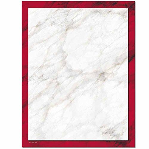 Red Laser Inkjet Paper - Red Marble Letterhead Laser & Inkjet Printer Paper, 100 pack