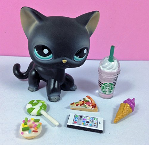 happyblockbuilder LPS Littlest Pet Shop 6 PC Lot Random Accessories Ice Cream Phone Starbucks Tablet Food; Pet NOT Included -